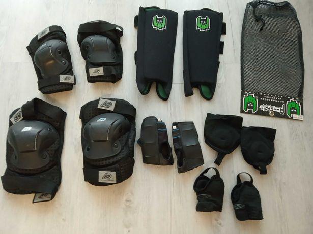 Duży zestaw ochraniacze K2 rolki, rower mega okazja, rozmiar XL