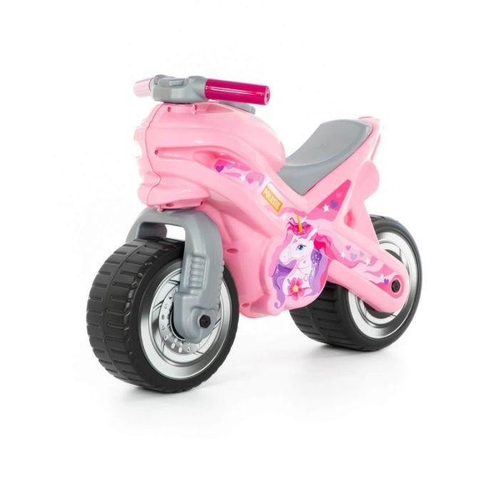 rowerek biegowy motocykl odpychacz Jeździk Motor różowy z jednorożce