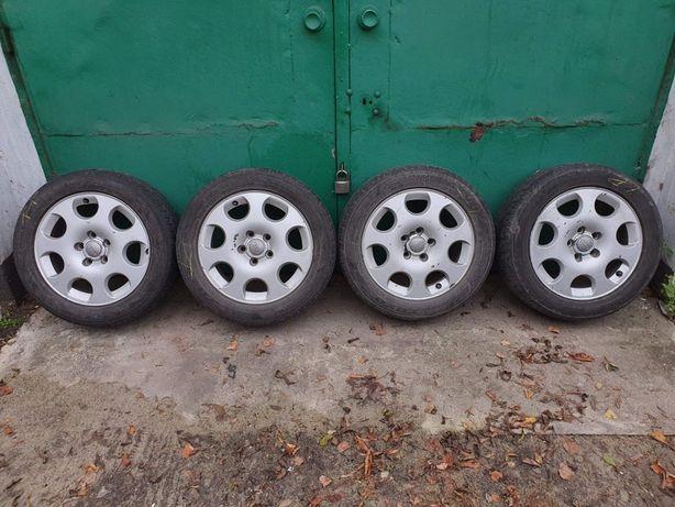 Koła Alufelgi 5x112 + opony zimowe 205/55 R16 audi a3 a4 vw seat skoda