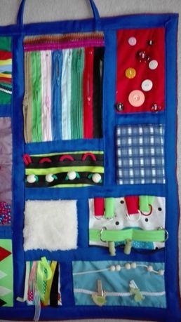 Kostki sensoryczne , tablice sensoryczne bawełniane terapia SI