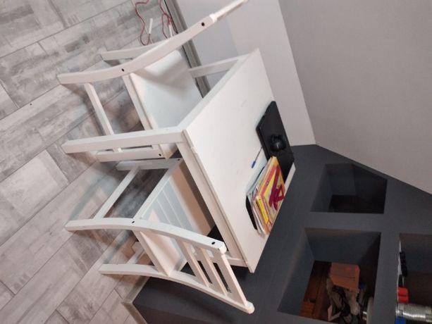 stół i krzesła ( biały)