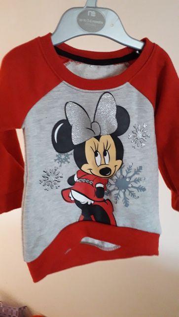 Świąteczna ciepła bluza dla dziewczynki Minnie Boże Narodzenie Disney