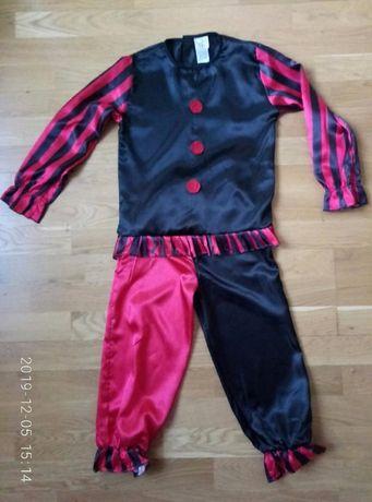 Карнавальный костюм, Клоун, Арлекин, Шут, Циркач /Новый /128-140см