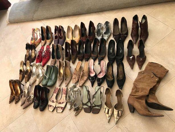 sapatos sandálias botas senhora (Romeu Valise Prof Helsar Fluxá zara)