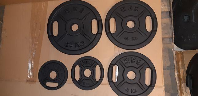 Zestaw nowych obciążeń HES 105kg  olimpijskich fi51mm