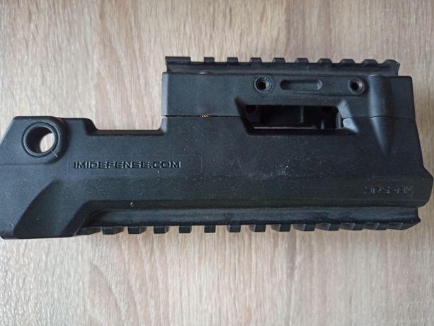 Zestaw imi defense HRS AK łoże i nakładka rury gazowej plastikowa