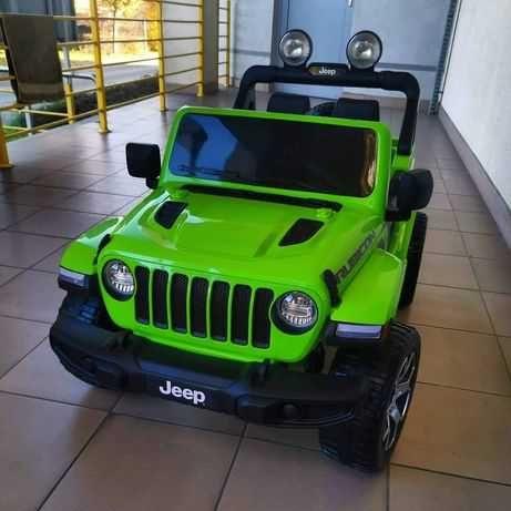 Auto na akumulator Jeep Wrangler Rubicon Zielony 4x4