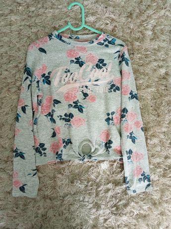 Bluzeczka, sweterek dziewczęcy z wiązaniem rozm 140/146