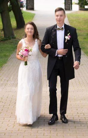 Garnitur ślubny - surdut - żywa wełna 120s