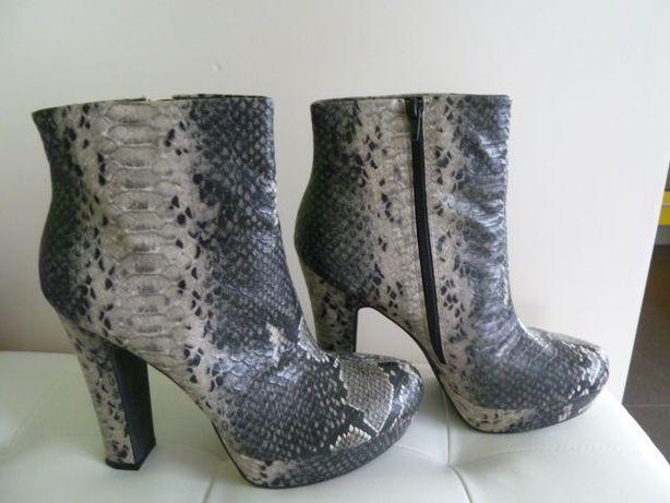 Snake skin---piekne botki-j.nowe