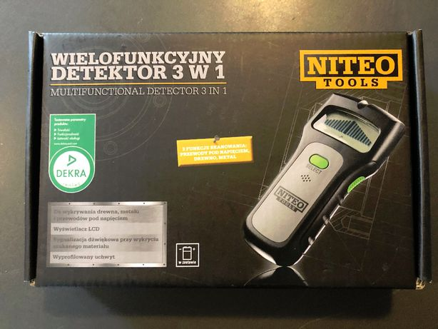 Wielofunkcyjny detektor drewna, metalu i przewodów Niteo Tools
