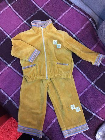 Спортивный велюровый костюм для девочки/мальчика (двойни)