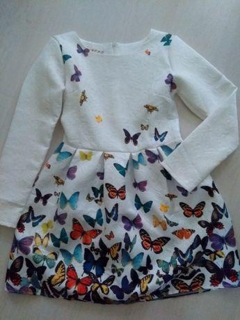 Sukienka biała w motyle M