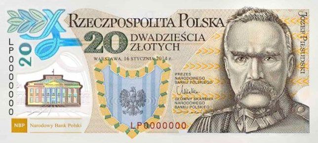 Banknot 20zł 100. rocznica utw. Legionów Polskich n-r 2692 Legiony