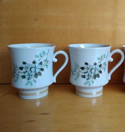 Большие чашки вишневый цвет перламутр 550 мл СССР 1960-е гг. фарфор