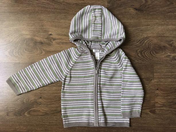 Obaibi rozpinana bluza sweter na zamek z kapturem 74