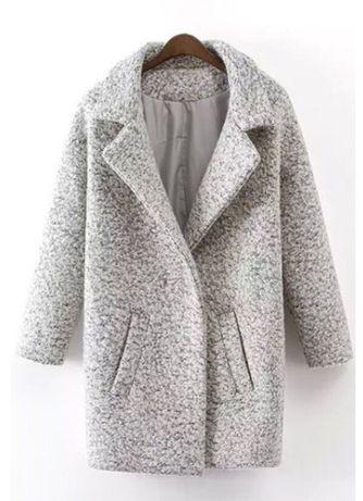 Пальто кокон  букле барашек