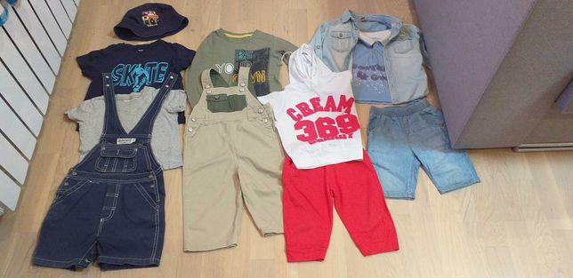 Набор весенних летних вещей на мальчика 86 92 98 комбинезон футболка