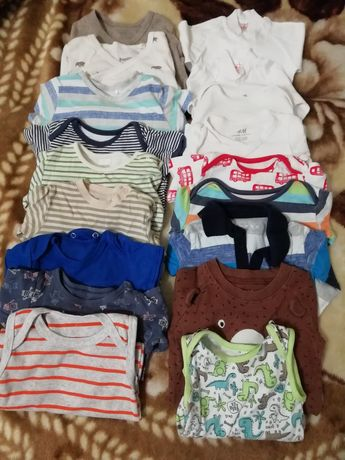 Вещи для мальчика(бодики) от 1месяца до 10