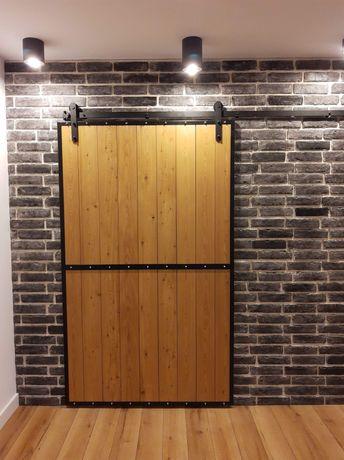 Drzwi przesuwne, industrial, loft,metalowe, malowane proszkowo.