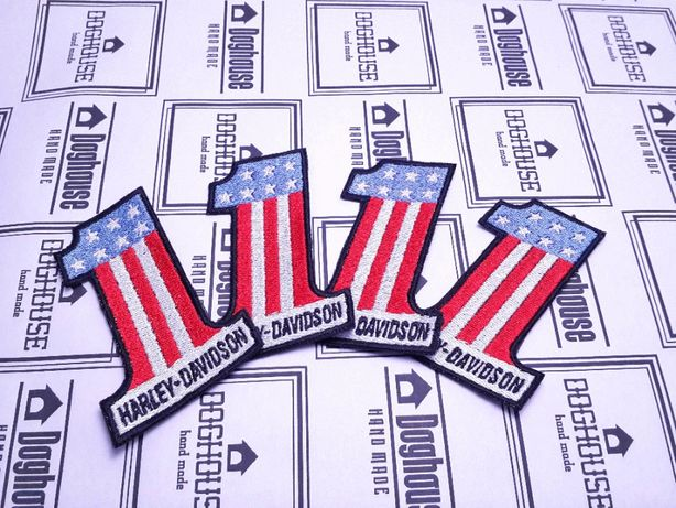 "Нашивка ""Harley-Davidson"" американский флаг мото"
