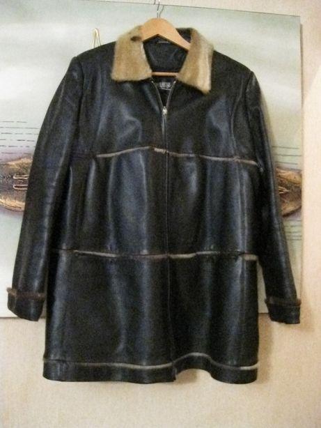 кожаная женская куртка р 50