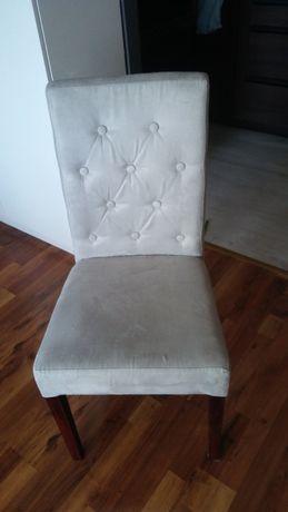 welurowe krzesła z pikowaniami