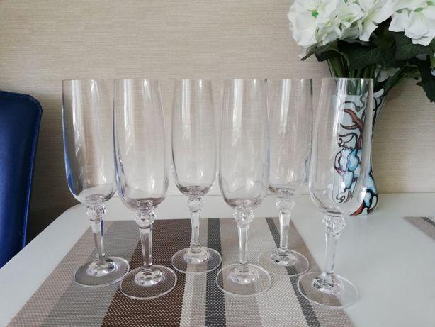 Набор бокалов для шампанского Богемия чешское стекло