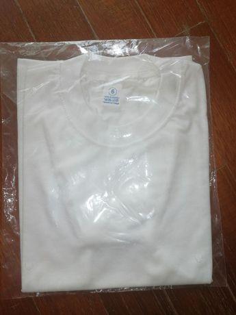 T-shirts todas brancas para pintar (6 e 8 anos) NOVAS