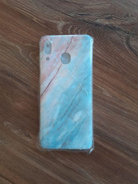 Silikonowe etui, marmurkowy case Samsung Galaxy A20