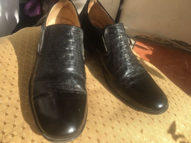 Туфли кожаные Dalton, лаковые 31 - 32 размер, стелька 21 см