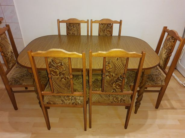 Stół rozkładany +6krzeseł