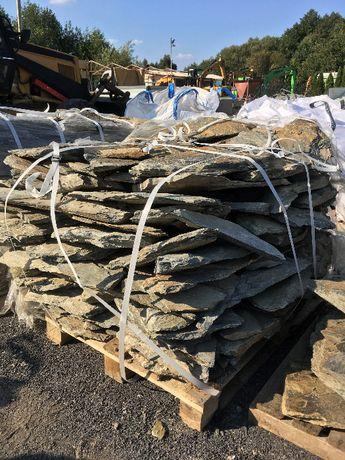 Łupek szarogłazowy selekcjonowany kamień ogrodowy ozdobny gnejs