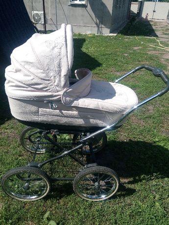 Детская коляска Roan Marita (бежевая) 2 в 1, большие колеса