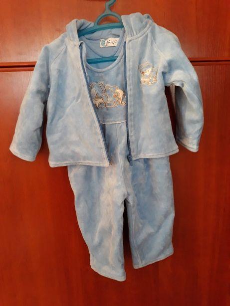 Komplet niemowlęcy pajacyk + bluza