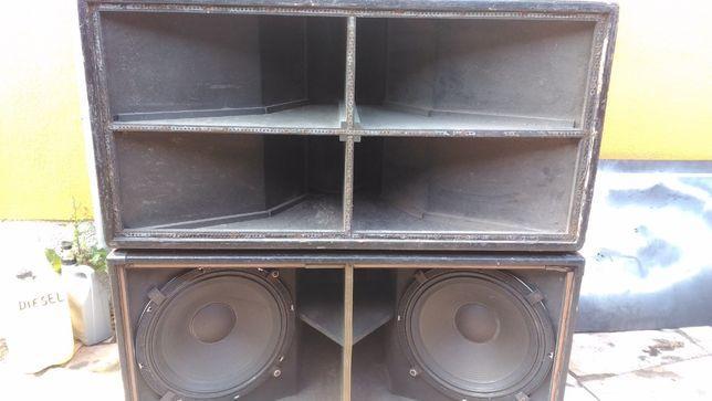 Colunas - Subwoofers - só caixas ( 4 x Turbosound e 4 x Next - CVA )
