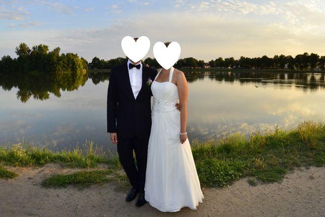 "Suknia ślubna ""Macy"" Annais Bridal, r.8 (38-40)  kolor ivory"