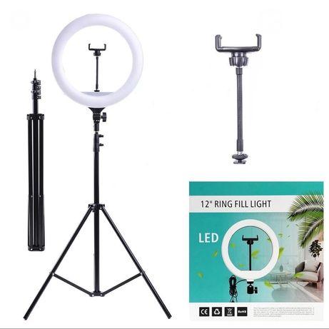 Светодиодная кольцевая лампа 30 см, + штатив 2.10 метра