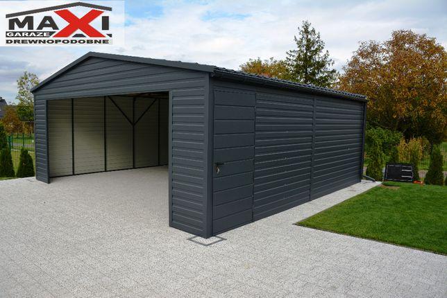Garaz blaszak, nowoczesny, brama segmentowa, bez pozwolenia do 35m2