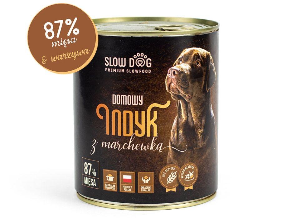 SLOW DOG - Karma mokra dla psa - Indyk z marchewką - 87% mięsa Kraków - image 1