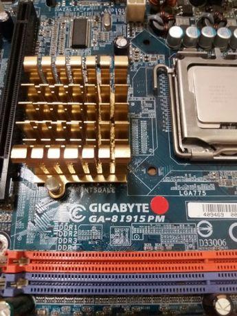 Материнка, проц, память, кулер - GA-8I915PM s775 - 1,5 GB RAM - 3,06GH