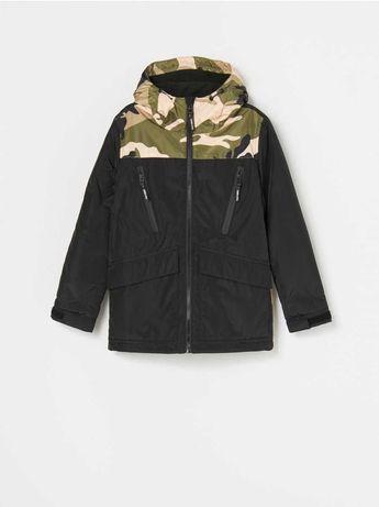 Фирменная водонепроницаемая куртка для мальчика, на флисе, р. 146