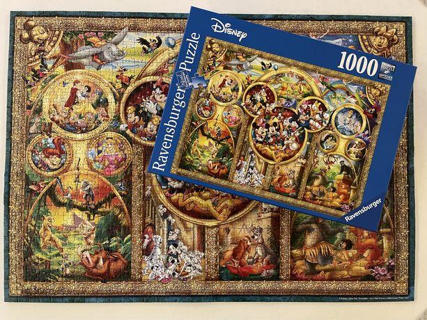 Puzzle Ravensburger 1000 Disney Najpiekniejsze motywy