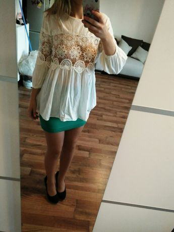 Bluzka biała koronkowa