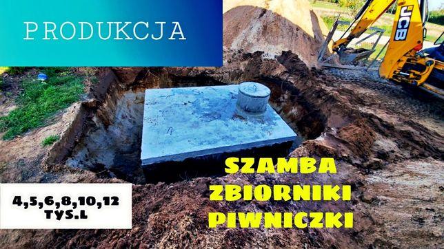 Produkcja oraz montaż szamb betonowych szambo zbiornik deszczówka 8m3