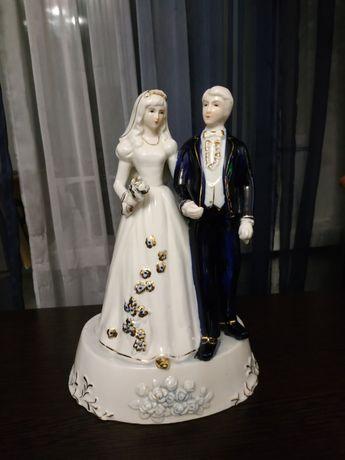 """Винтажная фарфоровая статуэтка """"Жених и невеста"""""""