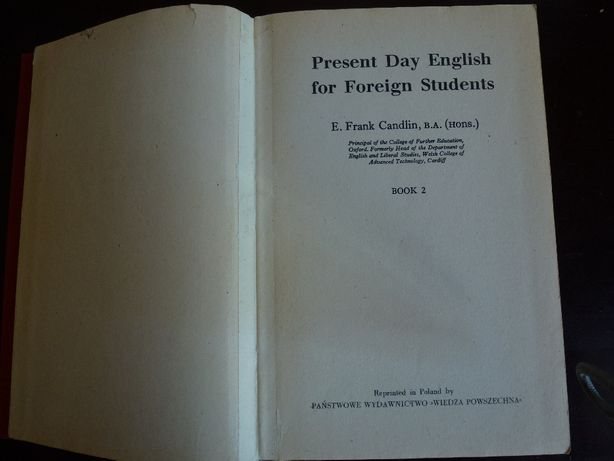 Present Day English for Foreign Students E. Frank Candlin Book2