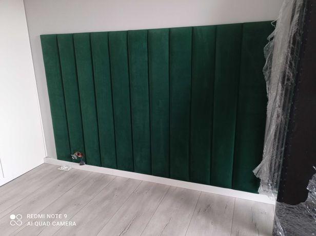 panele tapicerowane akustyczne sypialnie na wymiar wnęki ścianki