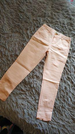 Spodnie z kokardką na nogawkach z tyłu, r.36