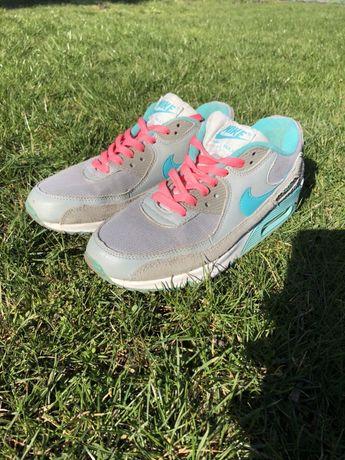 Buty Nike Air Max miętowo-różowe